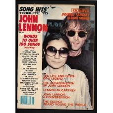 SONG HITS TRIBUTE TO JOHN LENNON 1981 MAGAZINE - RARE !!
