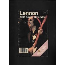 JOHN LENNON COLOR SPECIAL COLLECTORS' EDITION CALENDAR 1ST PRINTING 1981 - RARE !!