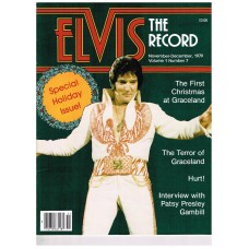 ELVIS PRESLEY THE RECORD SPECIAL HOLIDAY ISSUE NOV/DEC 1979 VOL 1 NUM 7 W PHOTOS