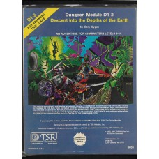 DESCENT INTO THE DEPTHS OF THE EARTH D 1-2  - ADVANCED DUNGEONS AND DRAGONS -  MODULE