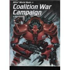 PALLADIUM BOOKS -  RIFTS - WORLD BOOK 11 - COALITION WAR CAMPAIGN - VG SHAPE !!