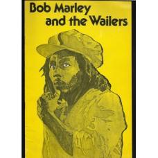 BOB MARLEY AND THE WAILERS 1977 PLAYBILL FROM HAWAII - RARE !!