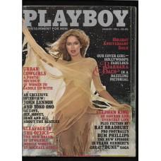 PLAYBOY JAN 1981 MAGAZINE - VG - BARBARA BACH - VG RARE !!