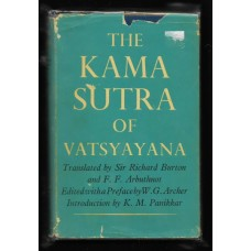 1963 THE KAMA SUTRA OF VATSYAYANA HARD COVER BOOK WITH COVER - RARE !!
