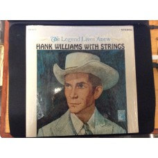 HANK WILLIAMS WITH STRINGS - 33 LP RECORD - MGM LABEL - FINE CONDITION