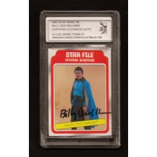 BILLY DEE WILLIAMS 1980 SIGNED STAR WARS TRADING CARD #8 - DJL # 911102