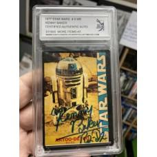 KENNY BAKER 1977 SIGNED STAR WARS TRADING CARD #8 - DJL # 911666