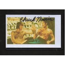 CHUCK NORRIS SIGNED 3x5 INDEX CARD - RARE !!