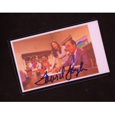 "DAVID DOYLE -  SIGNED 2x4 INDEX CARD "" BOSLEY "" -  CHARLIES ANGELES"