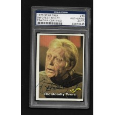 DEFOREST KELLEY - AUTOGRAPH 1976 STAR TREK #70 CARD - PSA/DNA