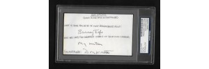 DON KNOTTS - SIGNED 3x5 INDEX CARD Q&A - PSA/DNA # 84078205