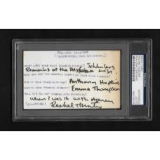 RACHEL HUNTER - SIGNED 3x5 INDEX CARD Q&A - PSA/DNA #84070818