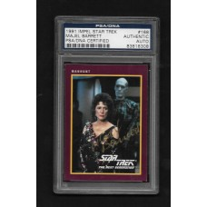 MAJEL BARRETT - 1991 IMPEL STAR TREK #168 AUTOGRAPH CARD PSA/DNA 83818308 - RARE !!
