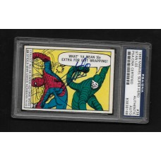 STAN LEE - AUTOGRAPHED 1966 MARVEL SUPER HERO CARD -  PSA/DNA