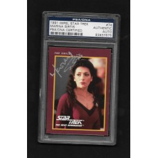 MARINA SIRTIS - AUTOGRAPHED 1991 IMPEL STAR TREK CARD # 74 - PSA/DNA 83837675