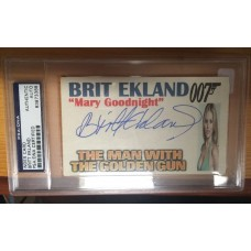 BRIT EKLAND -  3x5 INDEX CARD - JAMES BOND  - PSA/DNA