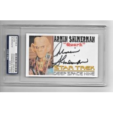 ARMIN SHIMERMAN - SIGNED 3x5 INDEX CARD - DEEP SPACE NINE - PSA/DNA