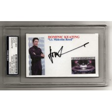 DOMINIC KEATING - SIGNED 3x5 INDEX CARD - STAR TREK ENTERPRISE  - PSA/DNA
