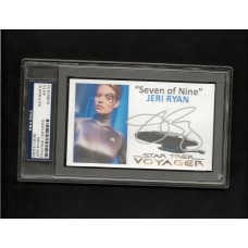 JERI RYAN - SIGNED 3x5 INDEX CARD - VOYAGER - PSA/DNA