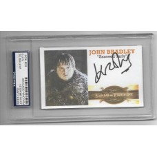 JOHN BRADLEY - SIGNED 3x5 INDEX CARD - GAME OF THRONES -  PSA/DNA