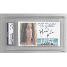 TANIA RAYMONDE  - SIGNED 3x5 INDEX CARD - L O S T  - PSA/DNA