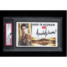 AMRITA ACHARIA - SIGNED 3x5 INDEX CARD - GAME OF THRONES IRRI - PSA/DNA PSA/DNA 84161286