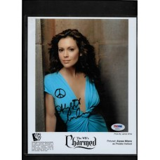 ALYSSA MILANO -  SIGNED 8X10  PHOTO CHARMED  -PSA/DNA AB68612