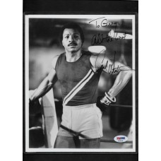 CARL WEATHERS -SIGNED B&W 8X10 PHOTO - ROCKY  - to Greg - PSA/DNA AD55536