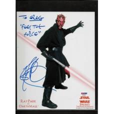 RAY PARK - SIGNED 8x10 PHOTO - STAR WARS DARTH MAUL - IN PERSON to greg - PSA/DNA AD40467