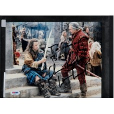 CHRISTOPHER LAMBERT  - SIGNED 8x10 COLOR PHOTO HIGHLANDER - PSA/DNA AD40471