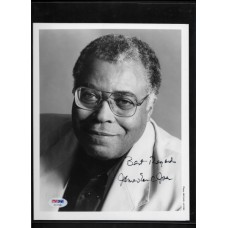 JAMES EARL JONES - SIGNED 8x10 B&W PHOTO - DARTH VADOR VOICE - PSA/DNA AC13186