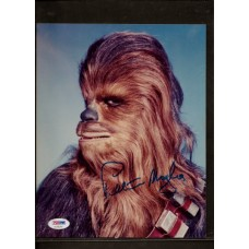 PETER MAYHEW - SIGNED 8X10 COLOR PHOTO - STAR WARS CHEWY - PSA/DNA AC68294