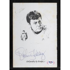 DEFOREST KELLEY - AUTOGRAPH  STAR TREK THE DREAM GOES ON COVER PAGE - SUPER RARE !! PSA/DNA AH69641