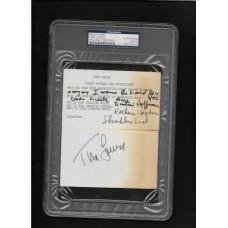 TINA LOUISE - AUTOGRAPH (2) 3x5 INDEX CARDS Q&A - PSA/DNA #84070819