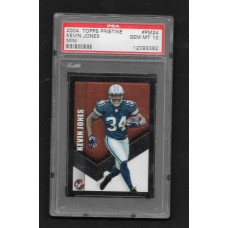 KEVIN JONES - 2004 TOPPS PRISTINE PM24 FOOTBALL CARD - GEM MT 10 - PSA 12093382