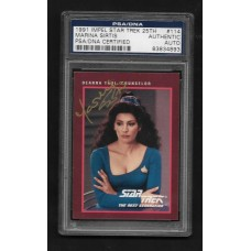 MARINA SIRTIS - AUTOGRAPHED 1991 IMPEL STAR TREK CARD #114 - PSA/DNA 83834893