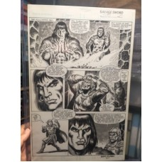 SAVAGE SWORD OF CONAN Original Art 108 Page 39 SIGNED BY Ernie Chan - RARE !!