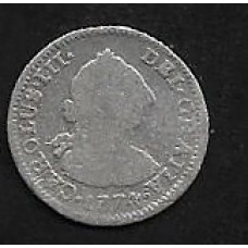 MEXICO (SPANISH COLONIAL) SILVER 1/2 REAL 1785