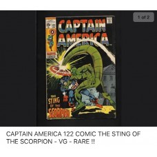 CAPTAIN AMERICA 122 COMIC - G/VG - THE STING OF A SCORPION - RARE !!
