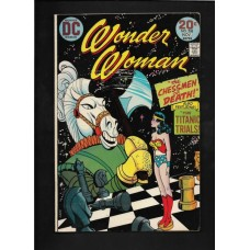 WONDER WOMEN 208 COMIC - FINE + - THE CHESSMEN OF DEATH !!