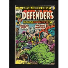DEFENDERS COMIC 19 - DOOMBALL- VG+