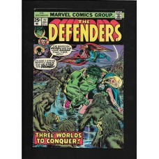 DEFENDERS COMIC 27 - THREE WORLDS TO CONQUER !! - 1ST STARHAWK - VG+ RARE !!