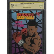 MIKE TYSON - SIGNED SPORTS SUPERSTARS #5 COMIC CBCS 7.0 - IN PERSON
