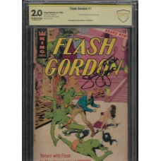 FLASH GORDON 1 - KING COMICS SIGNED BY: SAM JONES - CBCS 2.0 - RARE !!