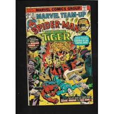 MARVEL TEAM UP 40 - SPIDERMAN & SONS OF THE TIGER  - FINE 5.0 - RARE !!