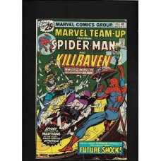 MARVEL TEAM UP 45 - SPIDERMAN & KILLRAVEN  - FINE 6.5 - RARE !!
