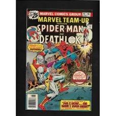 MARVEL TEAM UP 46 - SPIDERMAN & DEATHLOK  - FINE 6.5 - RARE !!