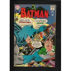 "BATMAN 199 DC COMICS 1968  FINE + - KEY ISSUE : ""The Peril of the Poison Rings""!!"