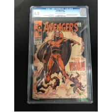 AVENGERS 57 COMIC BOOK - MARVEL CGC 4.0 1ST VISION - HOT !!
