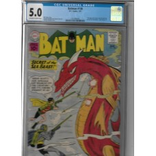 BATMAN 138 - 1961 DC COMIC - 5.0 CGC - RARE !!